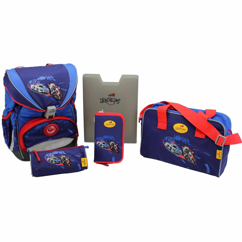 Школьный ранец DerDieDas ErgoFlex с наполнением Крутой Вираж, - фото 1