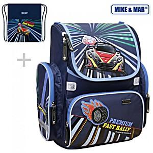 Школьный рюкзак Mike&Mar Майк Мар Ралли (синий) 1074-ММ-127 + мешок для обуви