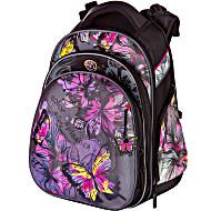 Школьный ранец Hummingbird Teens T74 фиолетовые бабочки + пенал