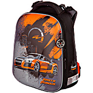 Школьный ранец Hummingbird T машинка оранжевая + мешок